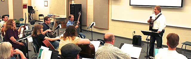 Classroom Guitar Teacher Development Workshops