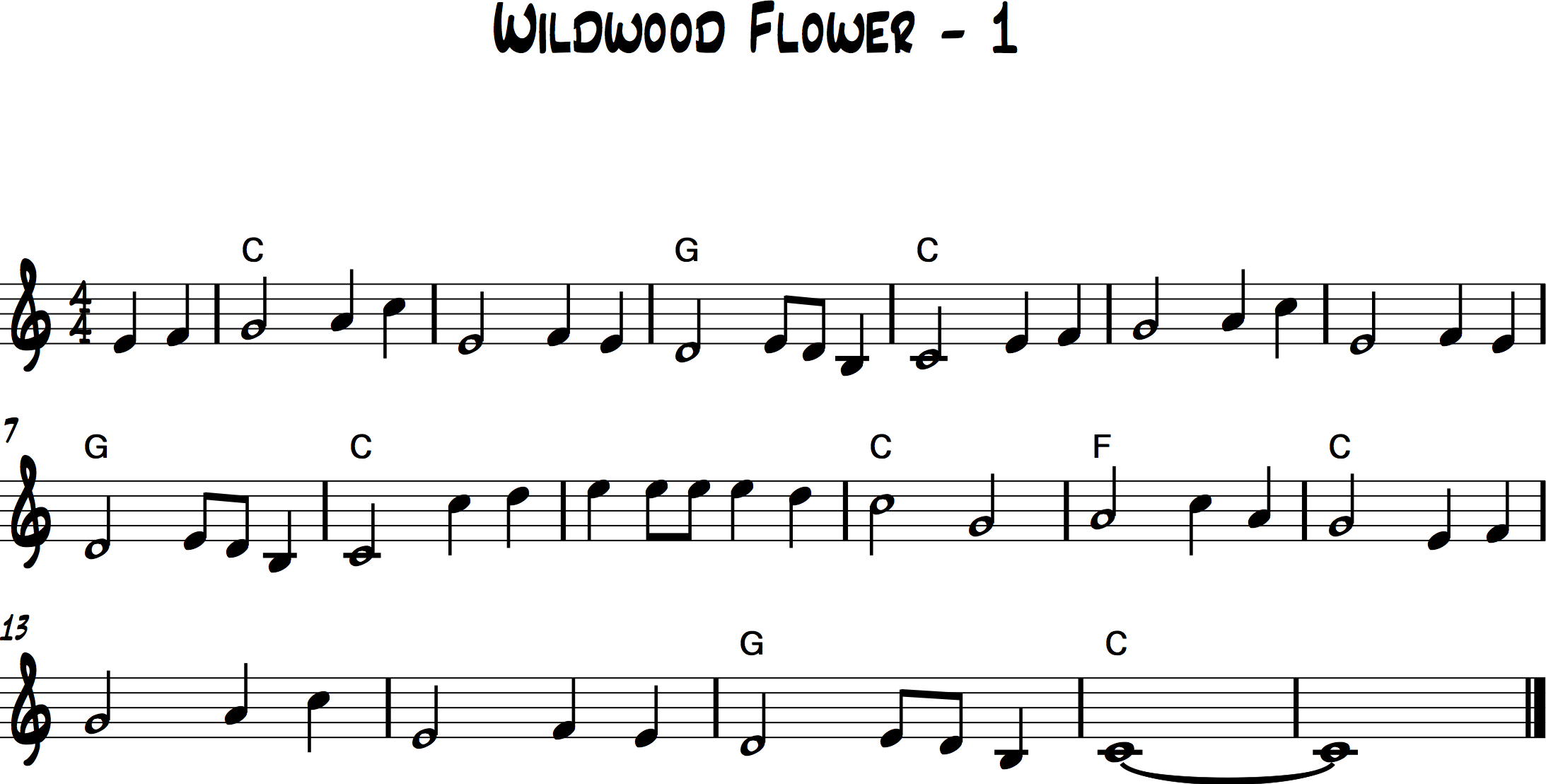 Wildwood Flower 1