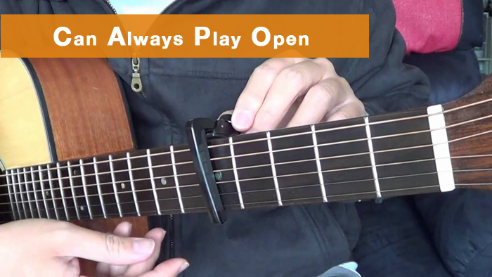 Classroom Guitar: Can Always Play Open – Using a Capo